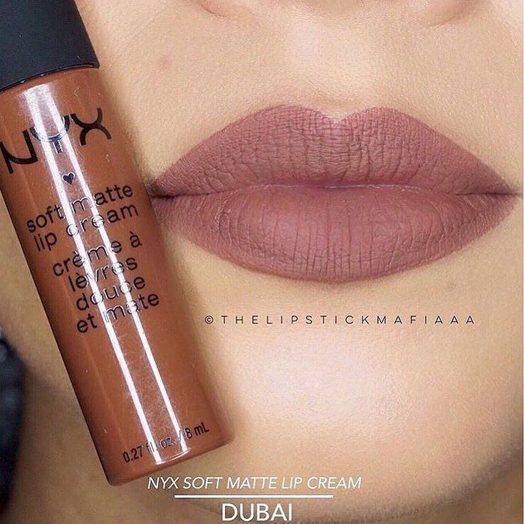 Lippie love! @thelipstickmafiaaa shows us 'Dubai' one of the NEW extensions in our Soft Matte Lip Cream line! || #nyxcosmetics by nyxcosmetics
