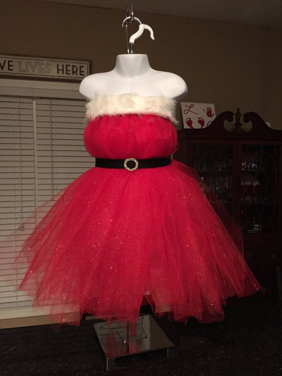 Miss Santa Claus Glitter Tulle Costume by DestinyByDesign12
