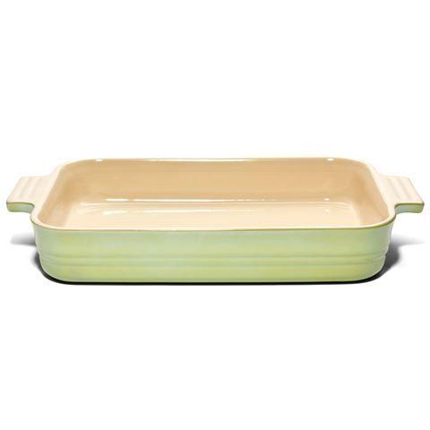 Le Creuset - Light Green Lustre Rectangular Dish 32cm