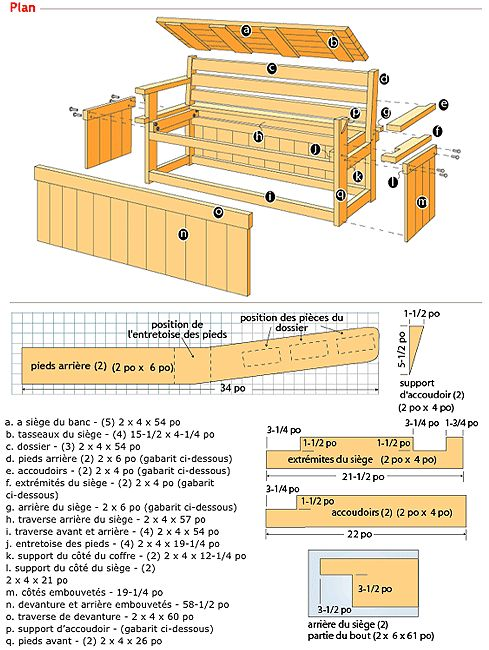 17 best ideas about banc coffre exterieur on pinterest banc coffre de jardin coffre jardin for Plan de banc de jardin