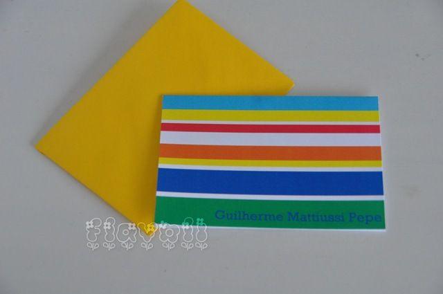 Cartão duplo listras colorido  :: flavoli.net - Papelaria Personalizada :: Contato: (21) 98-836-0113 vendas@flavoli.net