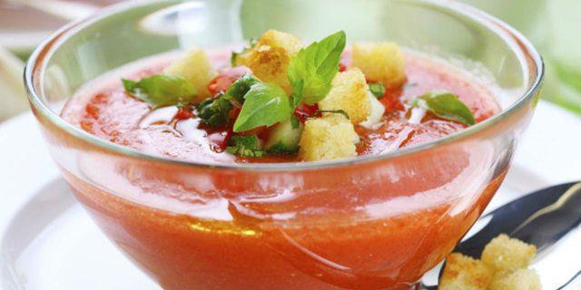 Ricetta Del Gazpacho Andaluso.Gazpacho Andaluso Ricetta Gazpacho Ricette Zuppe Fredde