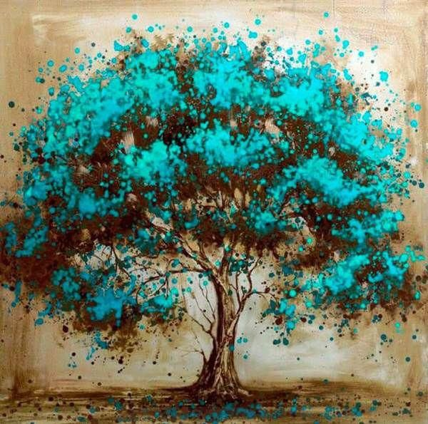 Beautiful Bluish Tree in 2019 | Oil Painting Easy | Painting