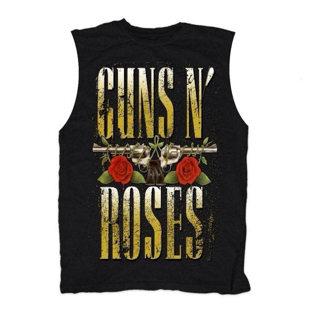Guns N Roses Stacked Logo Womens Tank T-Shirt