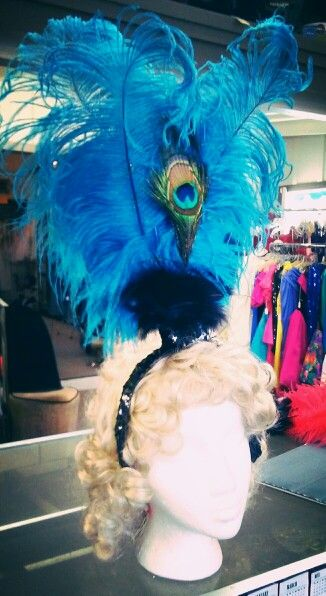 Feather head piece for saloon girl costume