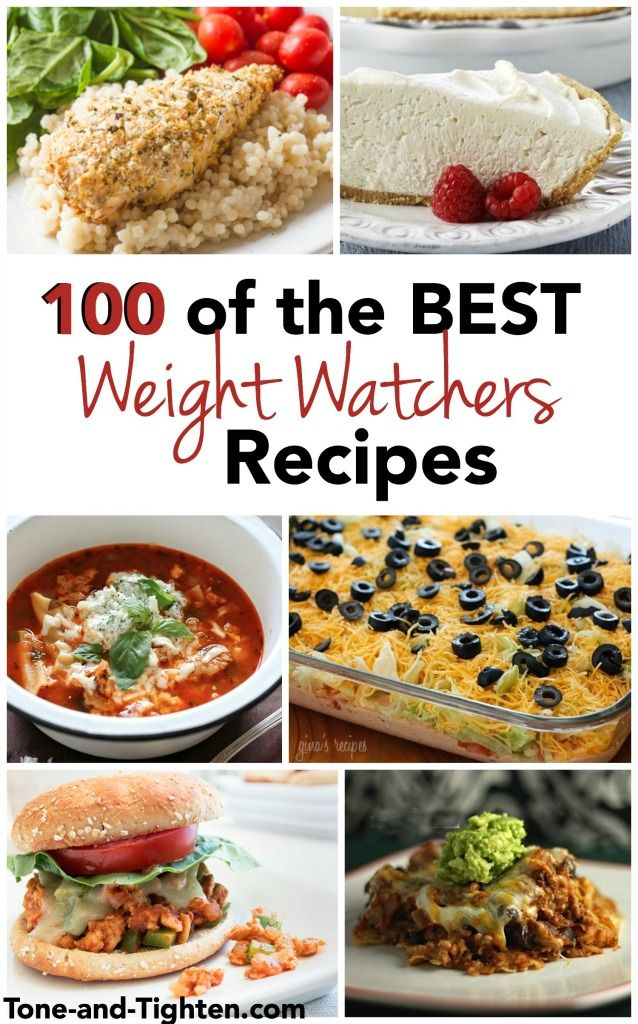 100 of the best Weight Watchers Recipes on Tone-and-Tighten - dinners, soups, lunches, snacks - it's all here!