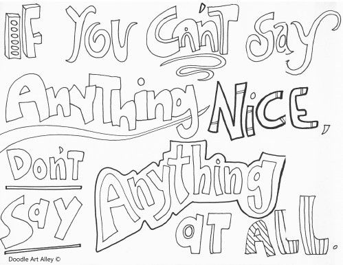 wwwdoodle-art-alley all-quotes-coloring-pageshtml - copy free coloring pages showing kindness