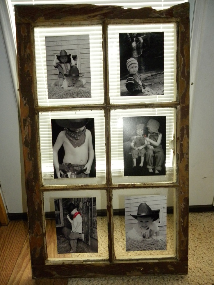 Another recycled old window picture frame idea really for Where to recycle old windows