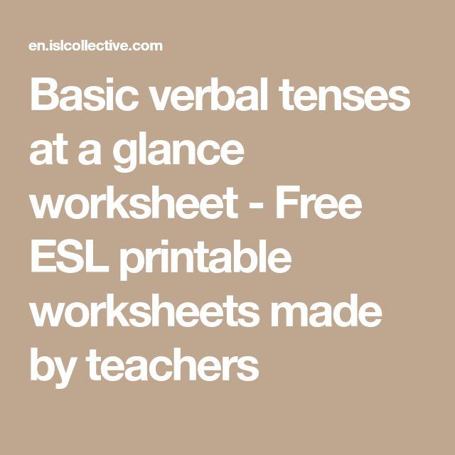 Basic verbal tenses at a glance worksheet - Free ESL printable worksheets made by teachers