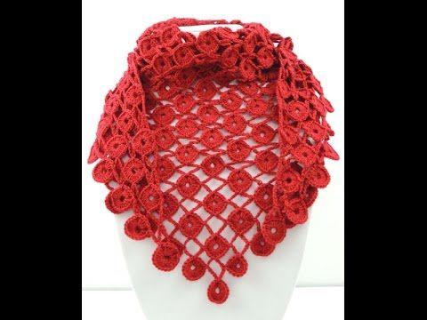 Crochet: Pañuelo en Círculos - YouTube