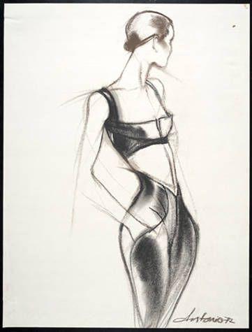 Artists/MakersLopez, Antonio, 1943-1987 (artist)  James, Charles, 1906-1978 (designer)  TitleDrawing: Bra top and pants  Place of OriginUnited States  Date1972
