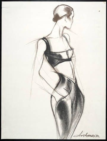 Artists/Makers	Lopez, Antonio, 1943-1987 (artist)  James, Charles, 1906-1978 (designer)  Title	Drawing: Bra top and pants  Place of Origin	United States  Date	1972