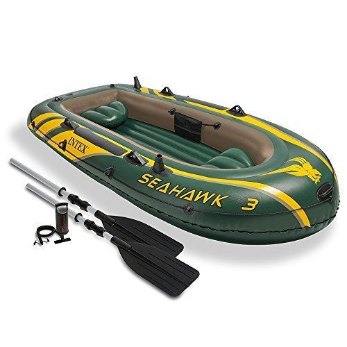 Inflatable Boat Set with Aluminum Oars Output Air Pump 3 Person for Summer Fun #InflatableBoatSet