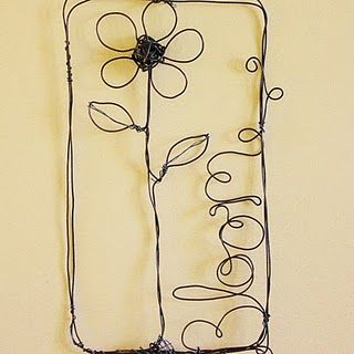 spring-y pieces of wire wall art