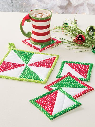 Christmas All Through the House making potholders and more