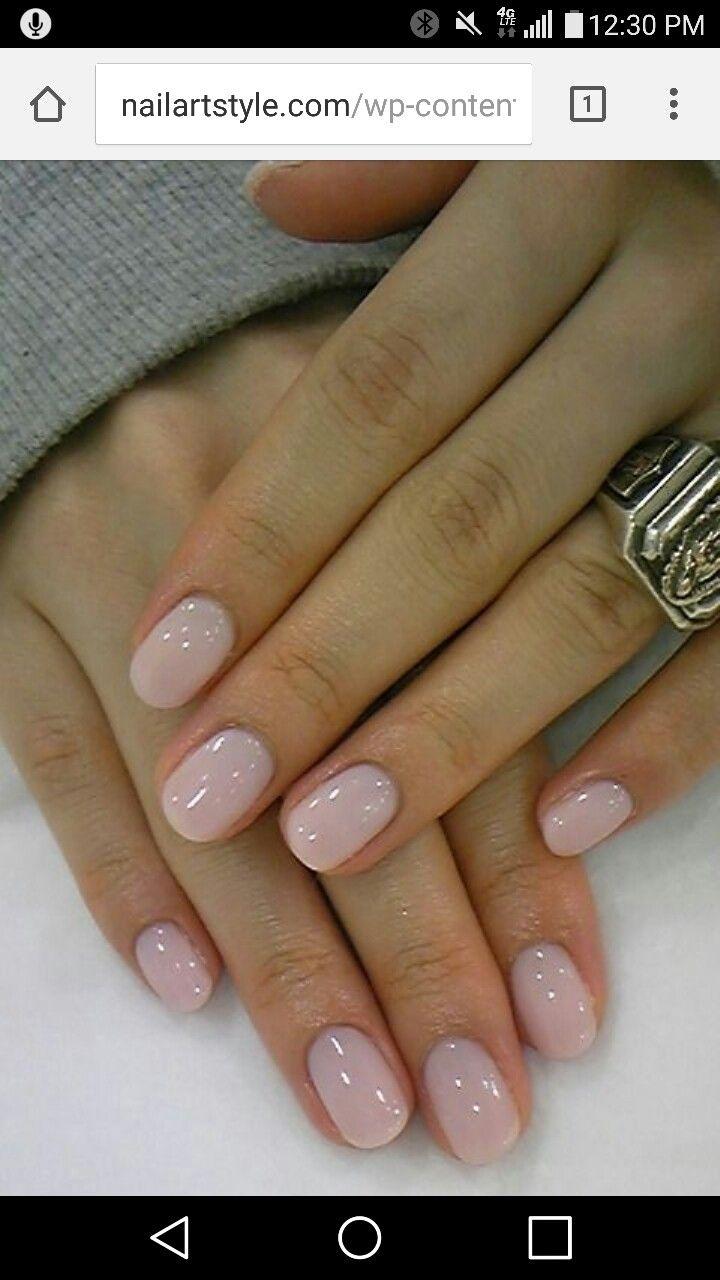 Short round acrylic nails