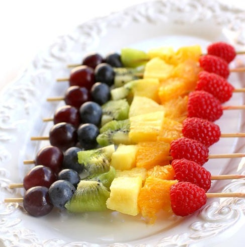 Fresh Fruit Kabobs are a great addition to any Continental Breakfast or Afternoon Snack