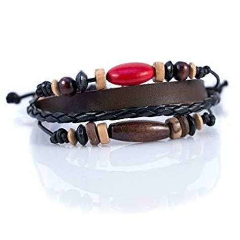 Adorning latest style of custom leather bracelets