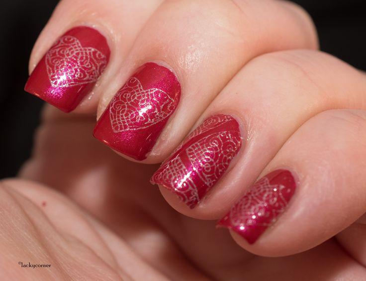 Depend O2 495, ÜberChic 4-03, Valentines Day manicure, Alla Hjärtans Dag manikyr