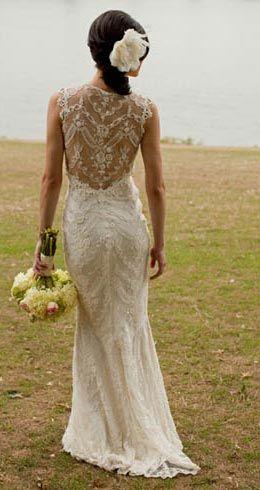 Vestido de noiva - Costas decotadas com renda