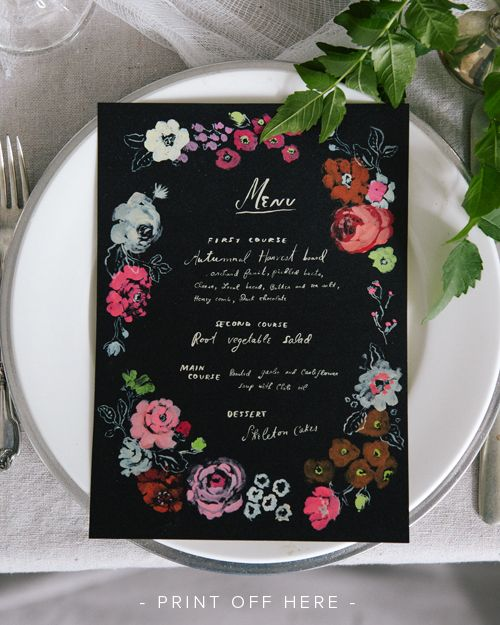 Free Printable Menu 581 best Free