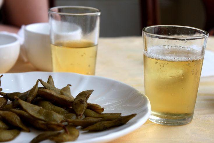 edamame con birra Tsingtao
