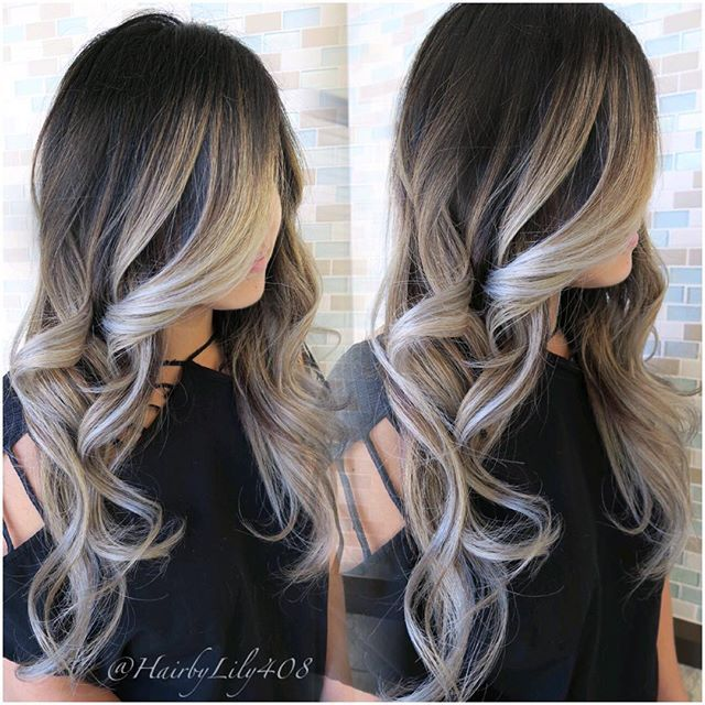 """#mulpix Balayage for the talented wedding planner @charmedevents. As much as the silver/ grey hair is trending. Some clients, including myself don't match with such a drab,extreme color. It brings happiness to my soul when I get to take them back to the one color that made me popular """" #ASHBLOND"""". This seriously is one of my favorite colors to do. Frances was my correction from a year ago and it has taken many session to get here. We balayage away from the root to avoid brass creating a…"""