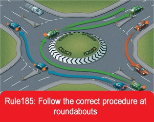 Drivers must drive carefully through roundabouts