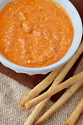 Feta and Roasted Red Pepper Spread Yields: appx 1 cup Great on a ...