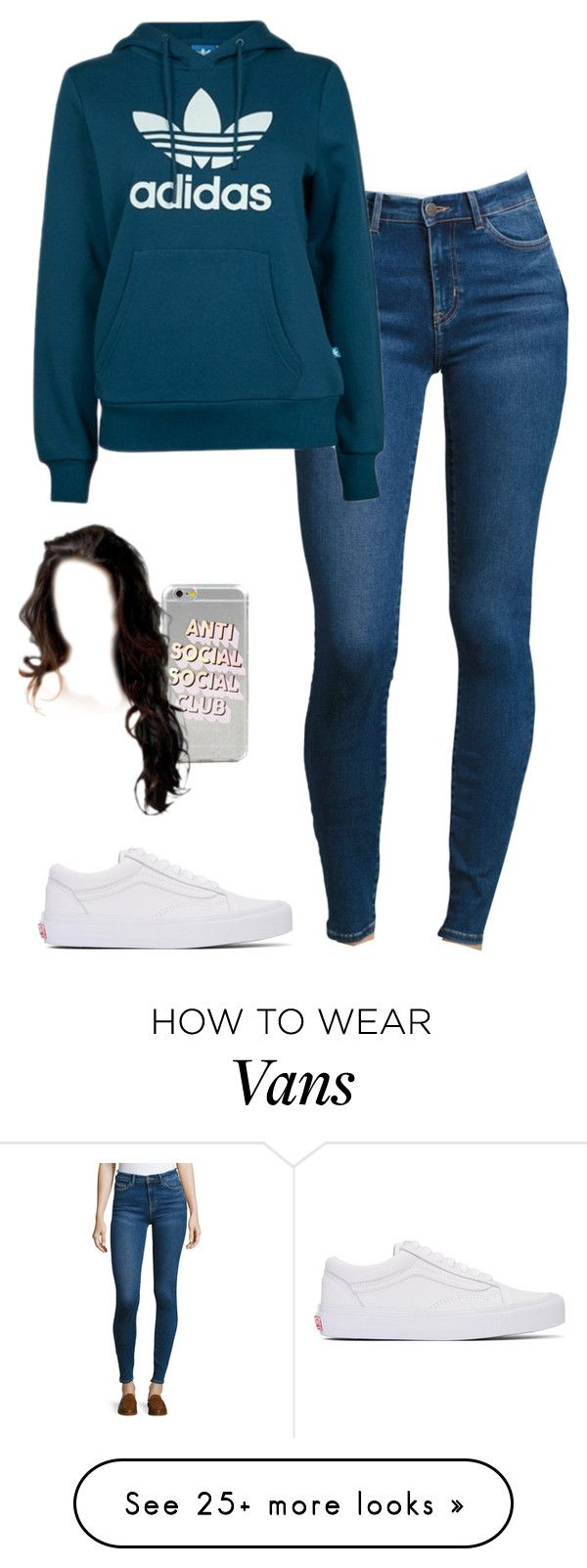 """""""13/3/17"""" by demibp on Polyvore featuring M.i.h Jeans, adidas and Vans"""