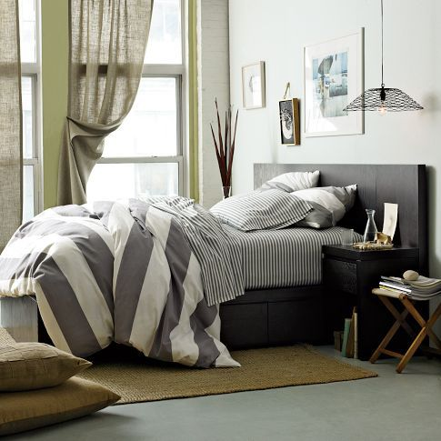 Table Styling Grey Comforter And Stripes