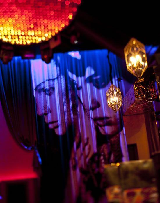 Vanity Night Club | Hard Rock Hotel | Las Vegas.   Love the light fixtures, lighting in general, and the wall art.