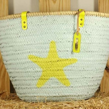 decovry.com - Stella Rittwagen | Blauwe Handgemaakte Handtas - Ster