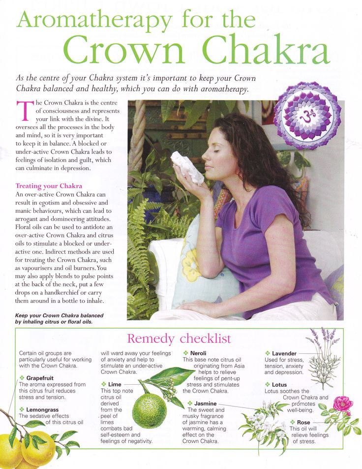 Aromatherapy for the Crown chakra