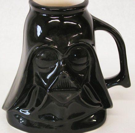Star Wars Darth Vader Mug by TerraBellaPottery on Etsy, $25.00