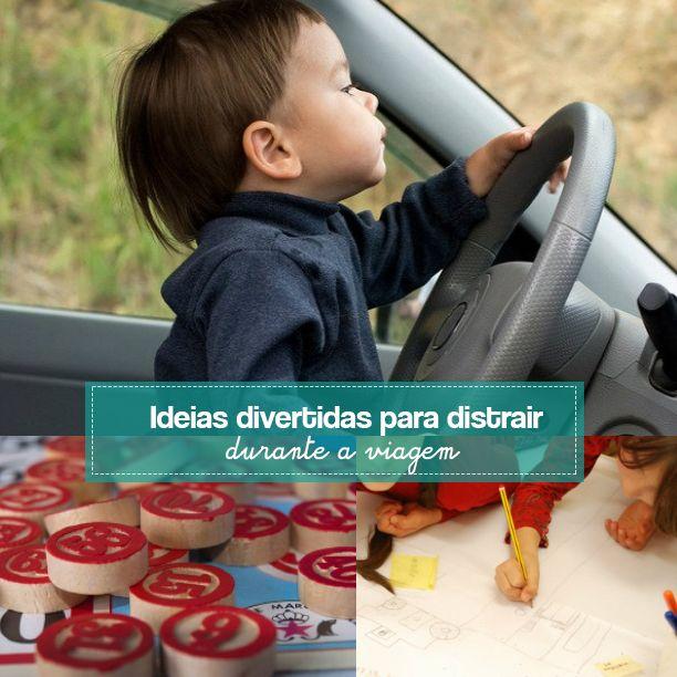 A viagem com os filhos pode ser muito mais tranquila se a gente programar brincadeiras para distrair durante a viagem e fazerem juntos no caminho