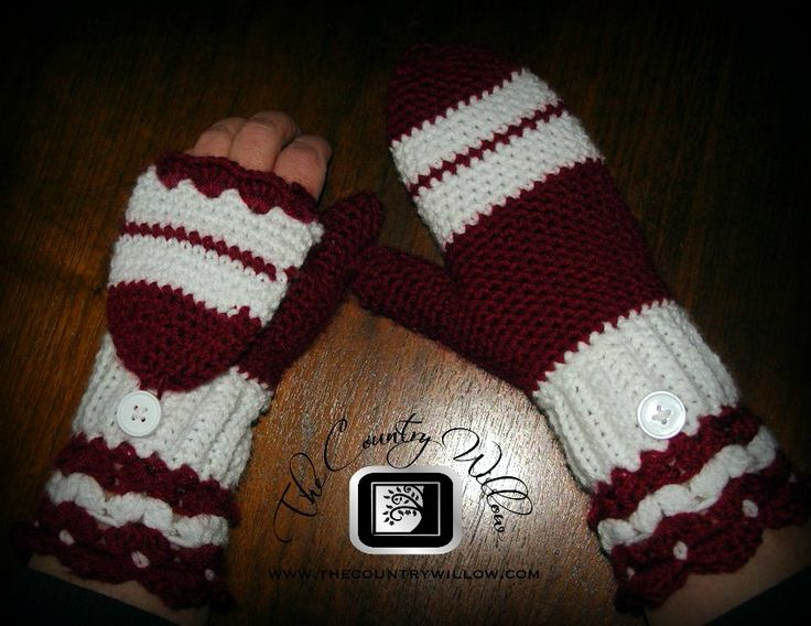 Cute mittens with foldover flap pattern. Crochet Your ...
