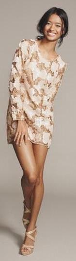 Beautiful Gold Metallic Sequin Dress!
