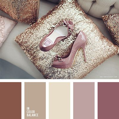 The combination of coffee-colored, soft pink, rich burgundy, as well as more active and muted violet make this composition delicate, feminine and feminine. Bottom line? This combination is ideal for the decoration of the boutique, creating a boudoir or bedroom adult ladies. It is also possible to use exterior finishes coffee, ladies diner.