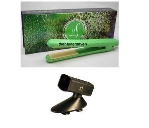 NIB Herstyler Green Colorful Seasons 7 1.5' Ceramic Hair Straightener Flat Iron w/ Free Tool Holder -- To view further for this item, visit the image link.