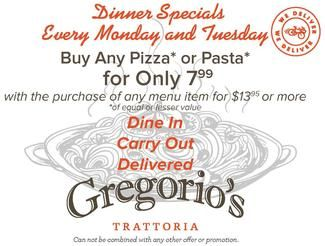 Welcome To Gregorio S Trattoria Reston Special Dinner Italian