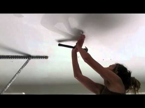 How To Hang A Heavy Boxing Punching Bag From The Ceiling Rafters - YouTube
