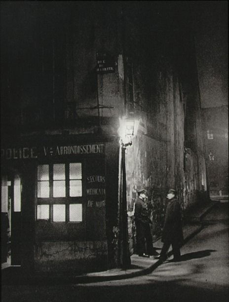 "undr:  Brassai Oldest police station in Paris From ""Paris by Night"" 1933"