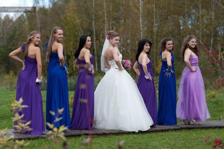 Подружки невесты очень гармоничное сочетание цветов