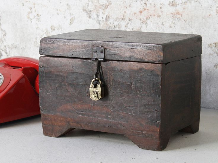 Wooden Money Box from Scaramanga's unique collection of vintage furniture and interiors, all one of a kind #vintagestyle #interiors #decor #homedecorating