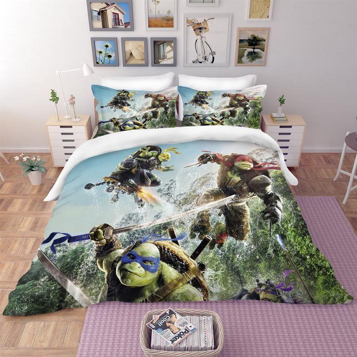 3d Ninja Turtles Quilt Cover Set Bedding Set Pillowcases 137 Jessartdecoration In 2020 Bedding Set Bedding Sets Quilt Cover