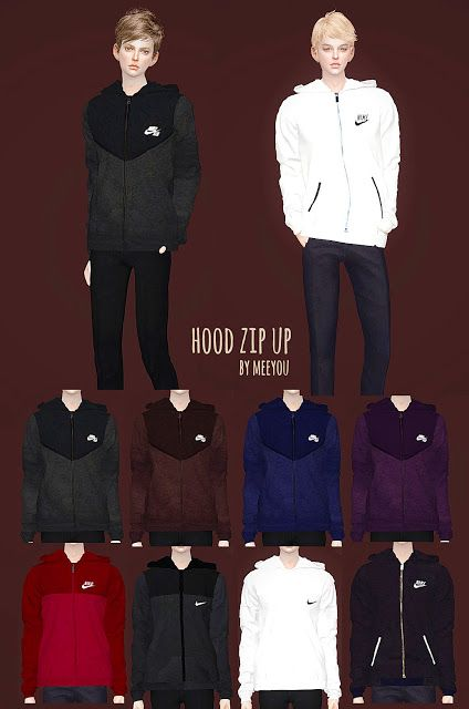 Sims 4 CC's - The Best: Hood zip up - Male by Meeyou World