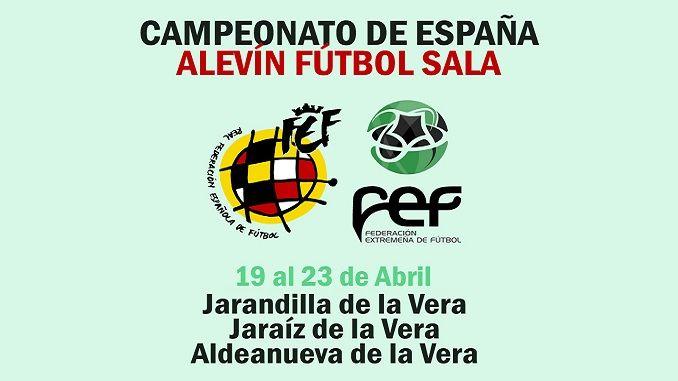 Presentación y celebración del sorteo del Campeonato de España de Selecciones Autonómicas Alevín Fútbol Sala de la RFEF en el Parador Nacional de Jarandilla de la Vera.