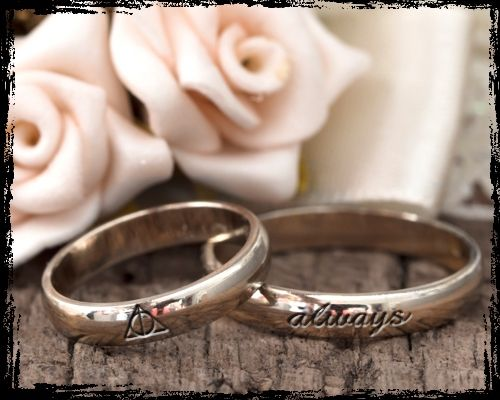 Harry Potter wedding bands