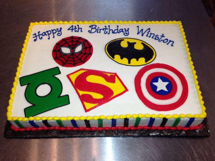 Superhero Cake Design Cakes Pinterest Superhero Cake